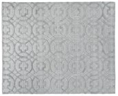 8' X 10' Light Silver Handmade Rug