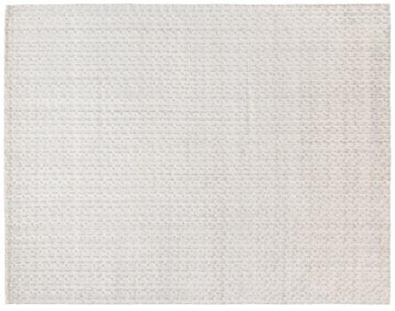6' X 9' Ivory Hand Made Rug