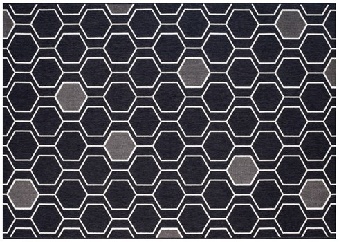 5X7 Geo-Black Rug