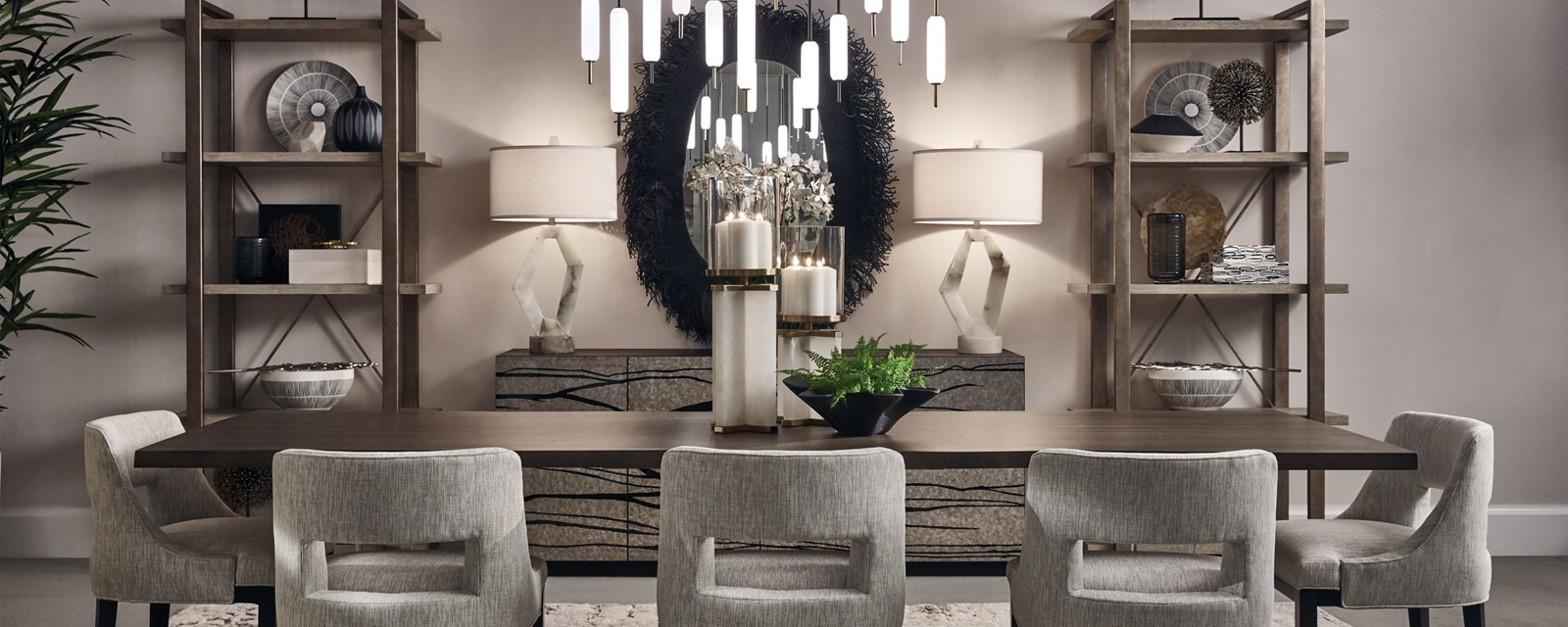 photo of the district Summerville dining table vignette