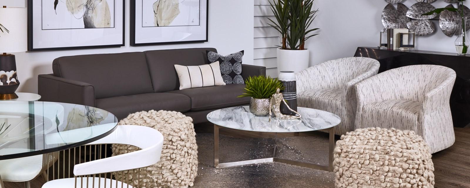 Leather Sofas & Loveseats