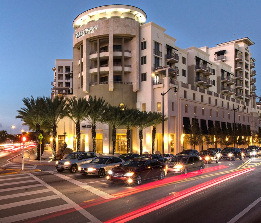 Coral Gables Robb & Stucky Exterior photograph, link to R&S showroom locator page