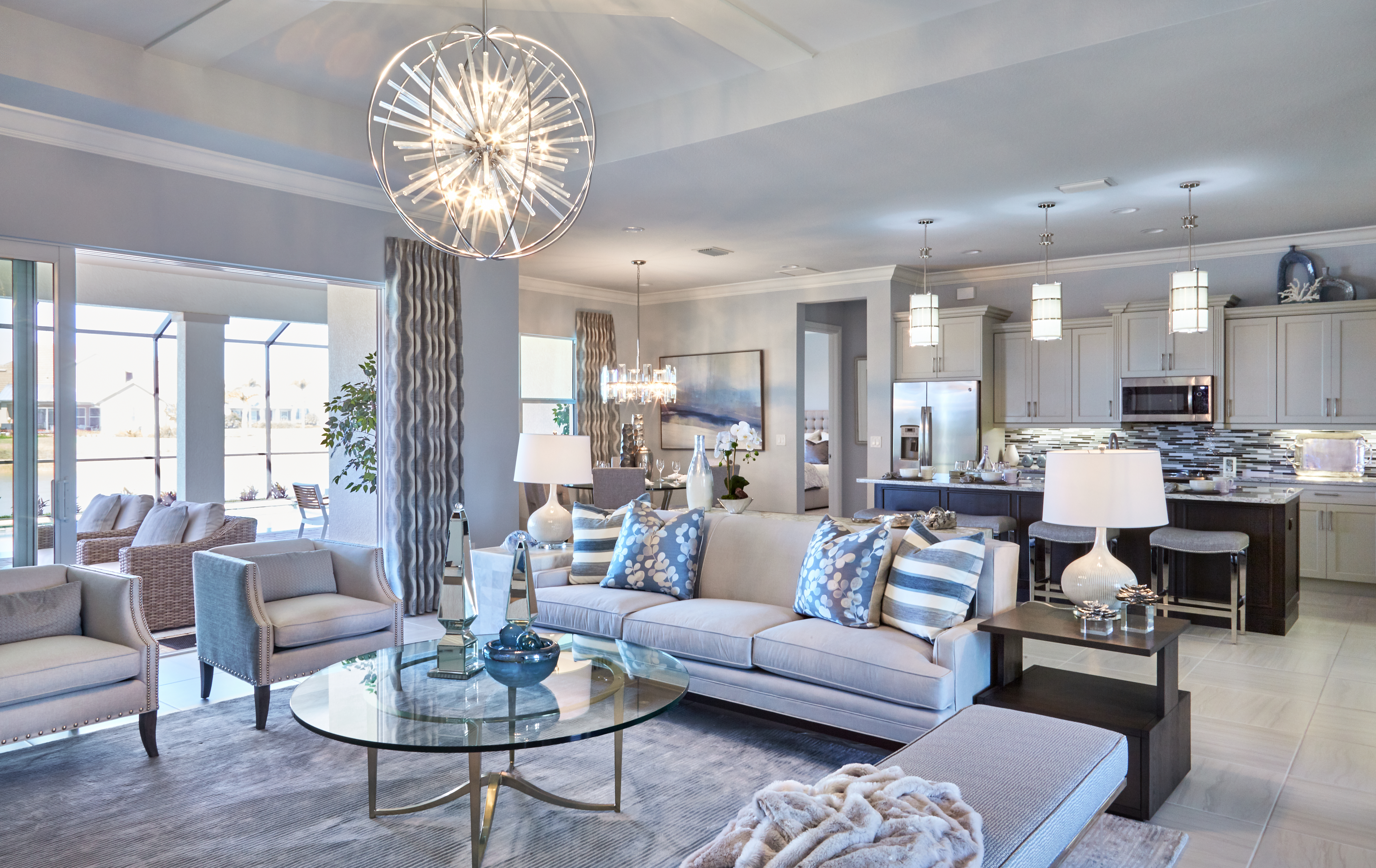Charming Model Home Interiors