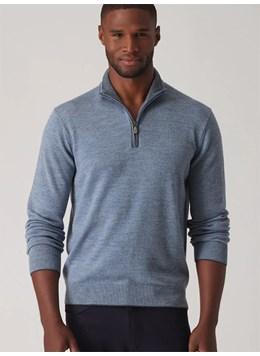 Raffi-Linea-Uomo-Italian-Merino-Wool-Full-Zip-Mock