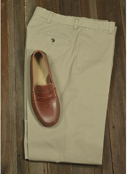 Berle-Charleston-Khaki-Garment-Washed-Twill-Pleated--Flat-Front