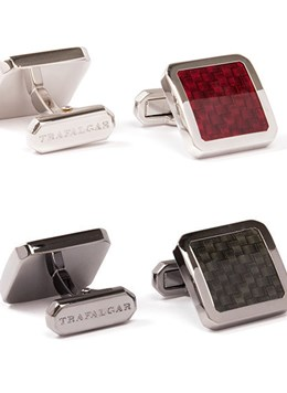 Trafalgar-Jewelry-Herringbone-Enamel-Cuff-Link